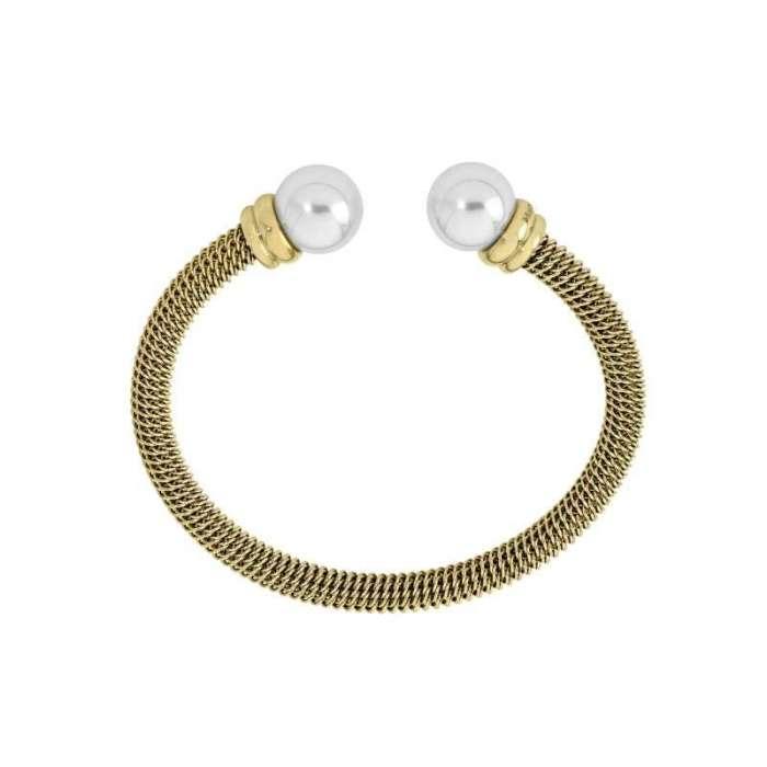 Bracelet rigid Tender. White/Golden