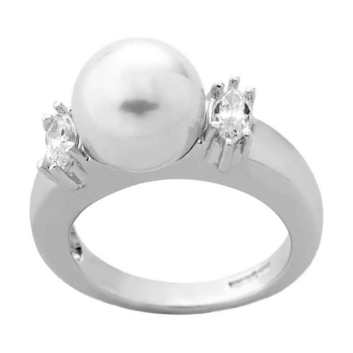 Majorica silver pearl ring Lilit