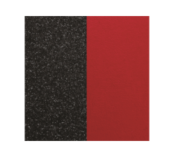 Leather sheet for Les Georgettes bracelet 25 mm. Red/Black glitter color