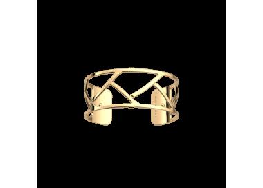 Bracelet by Les Georgettes Tresse 25 mm. Golden
