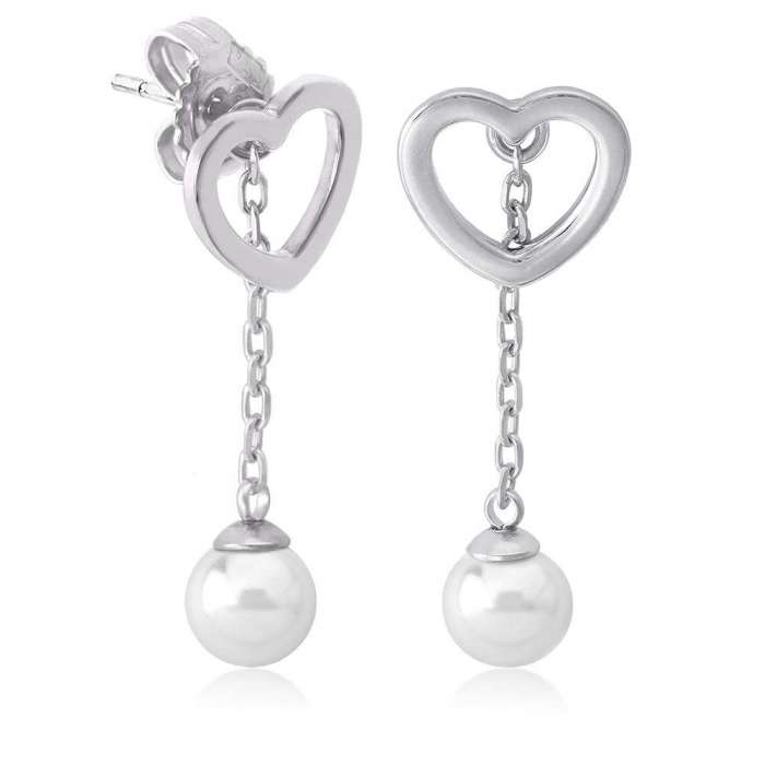 Earrings Pure Love Rodium
