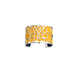 Bracelet Nénuphar by Les Georgettes with yellow leather. Silver finish