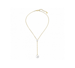 Majorica golden silver necklace with a pearl Rosa