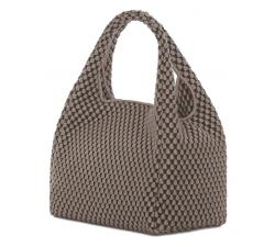 Bolso mano de Tissa Fontaneda Simple Matter. Color Ash Grey. Vista de lado