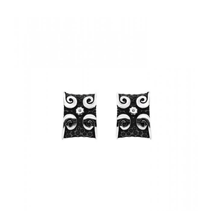 Earrings X silver