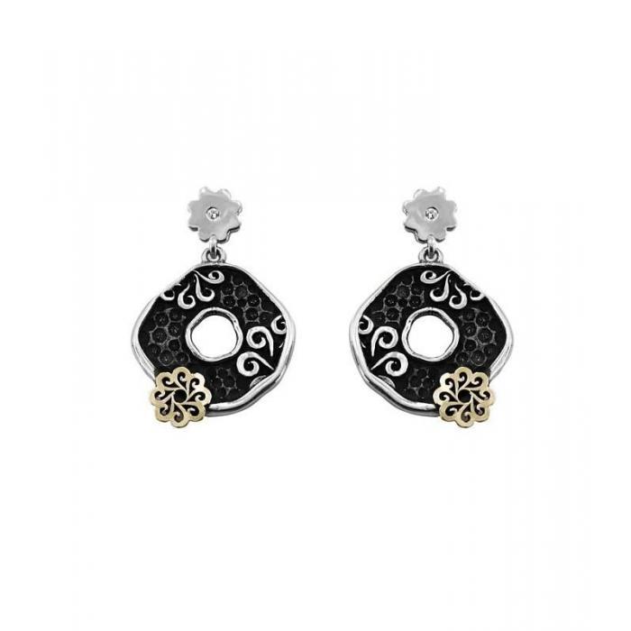 Earrings X gold and diamonds 3