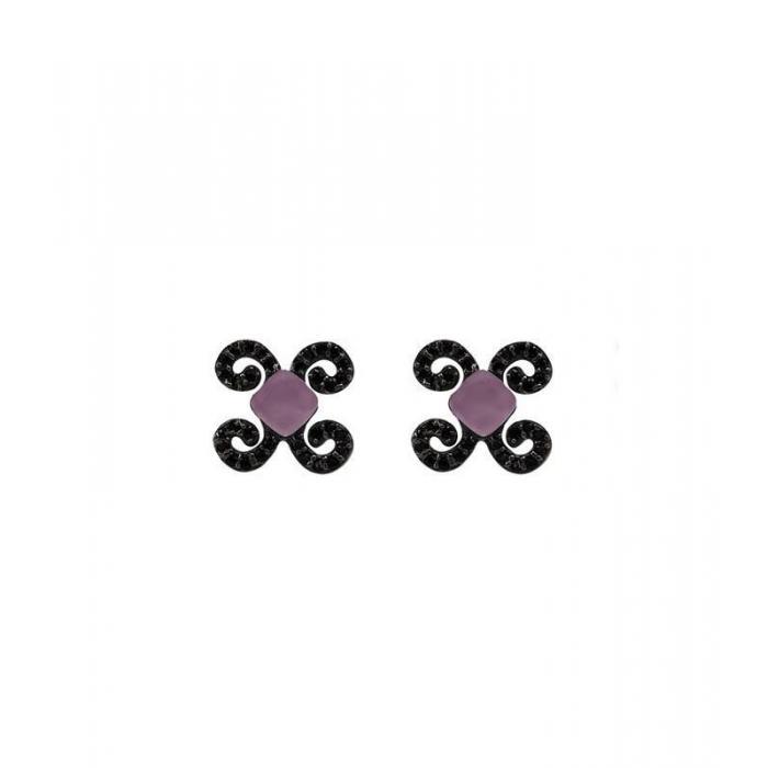 Earrings Bohemme Color. Black zircons