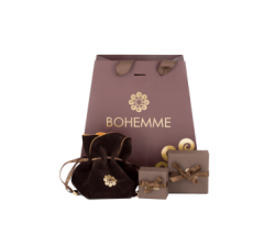 long earrings Bohemme Color. Black zircons