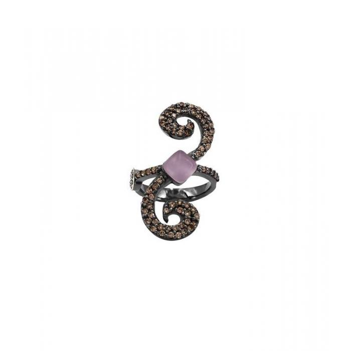 Ring Bohemme Color . Brown zircons