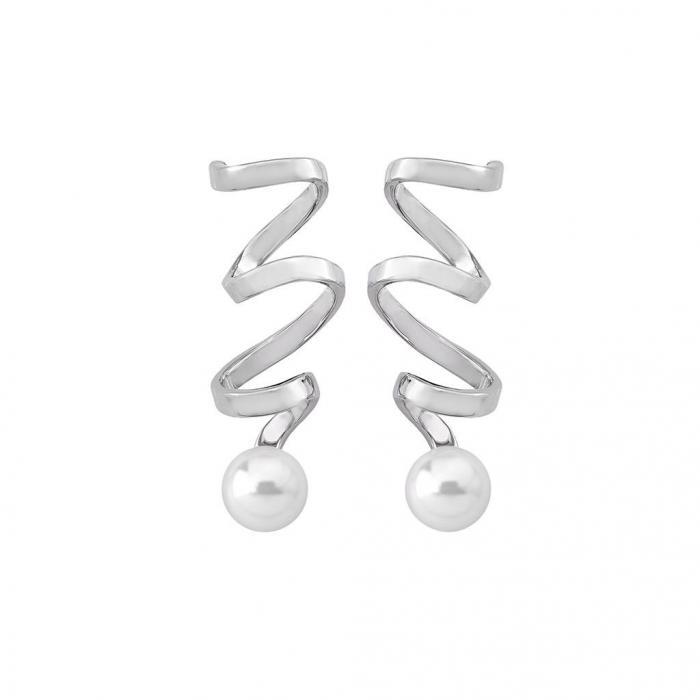 Earrings Cotillón Rodium