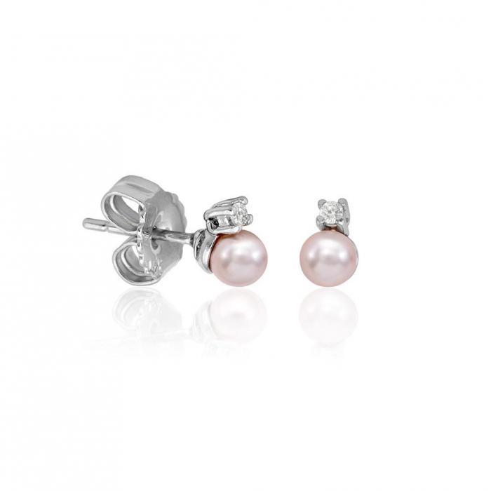 Earrings Cíes Pink + Zirconia