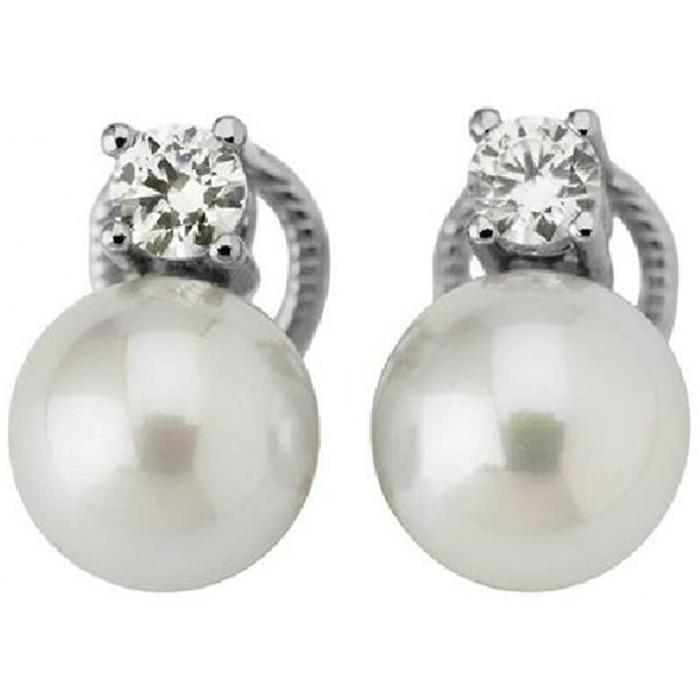 Earrings Diva White