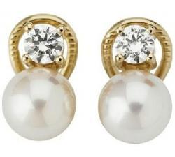 Pendientes de plata con perla Majorica Exquisite 2