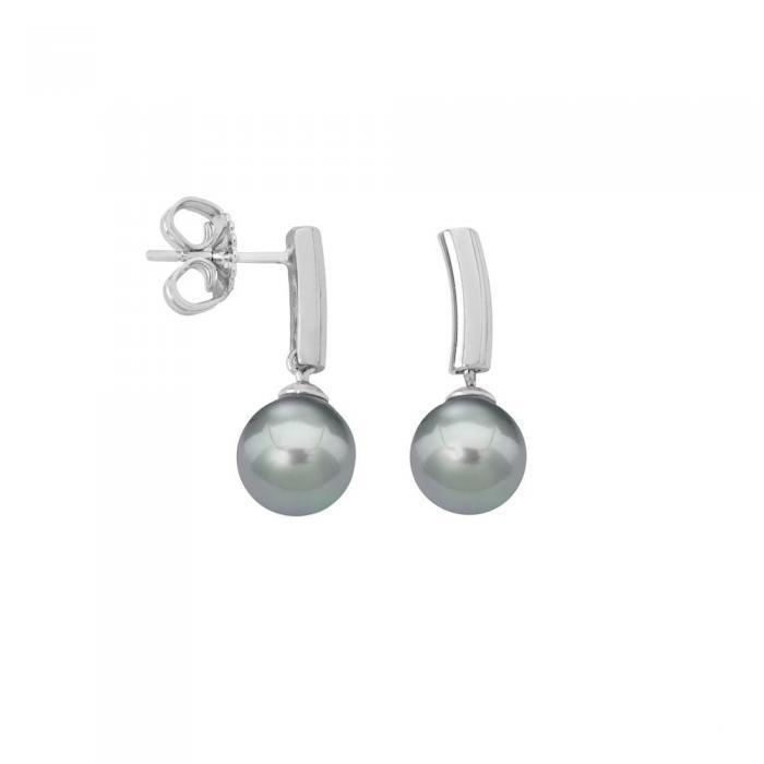 Earrings Espiga Gray