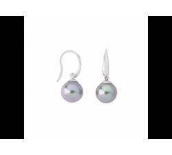 Majorica pearl earrings Medium_gray pearl_silver