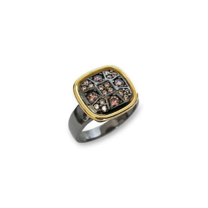 Anillo Choco Cool. Rectangular