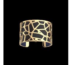Brazalete dorado Girafe_40 mm_negro Les Georgettes