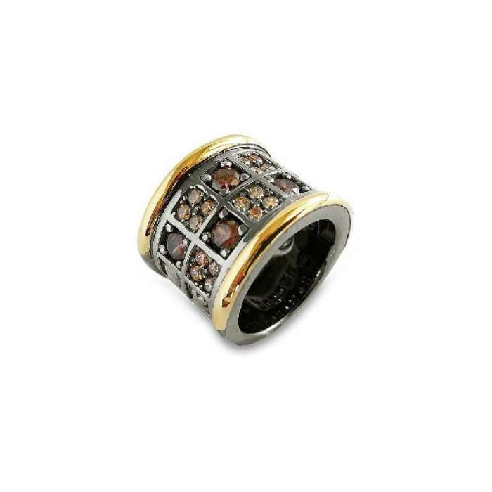 Silver ring by spanish jewelry brand Bohemme Choco Cool 4