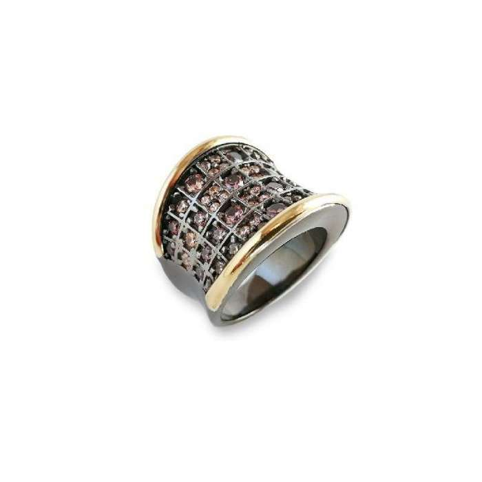 Silver ring by Bohemme Choco Cool 5