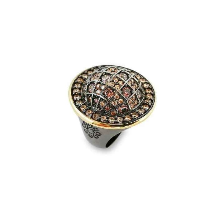 Silver ring by spanish jewelry brand Bohemme Choco Cool