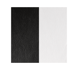 Banda de Piel Negro / Blanco