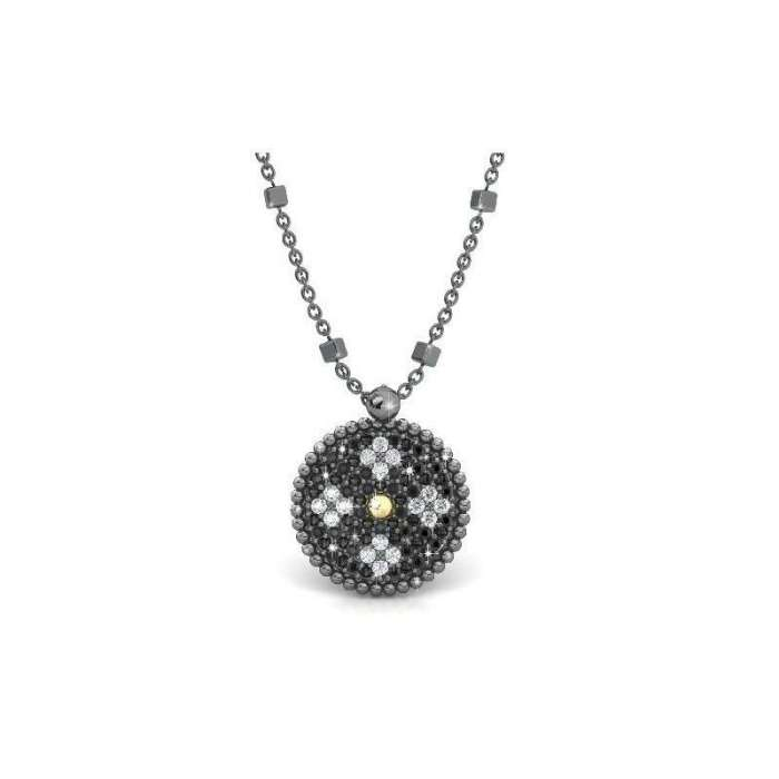 Silver pendant Princess Tale Spinel