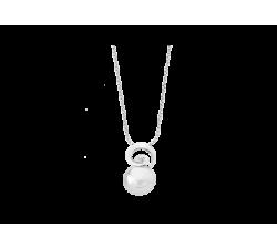 Colgante de plata con perla Majorica Espiral