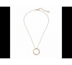 Colgante de plata con perlas Majorica Pirouette. Dorado.
