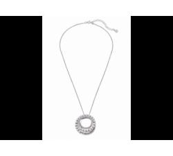 Colgante  de plata con perla Majorica Pirouette. Espiral