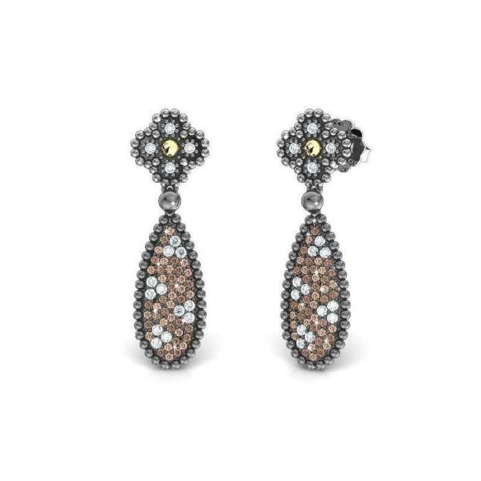 Earrings Princess Tale. Marrón