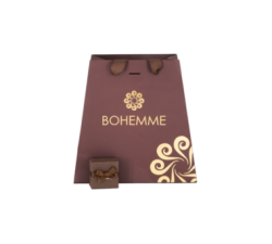 Box for Silver earrings by Bohemme Choco Cool. Square