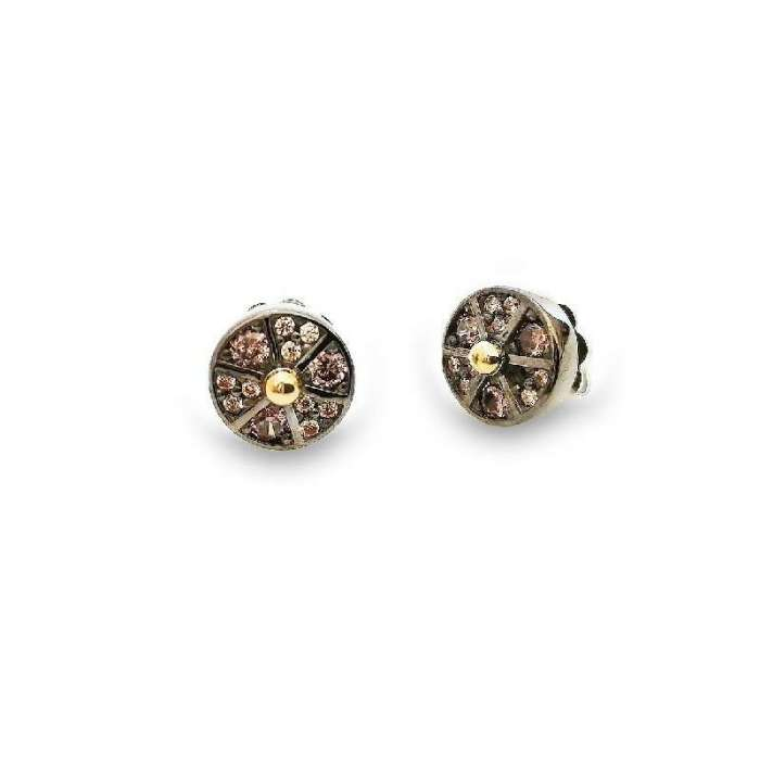 Earrings Choco Cool. Circle