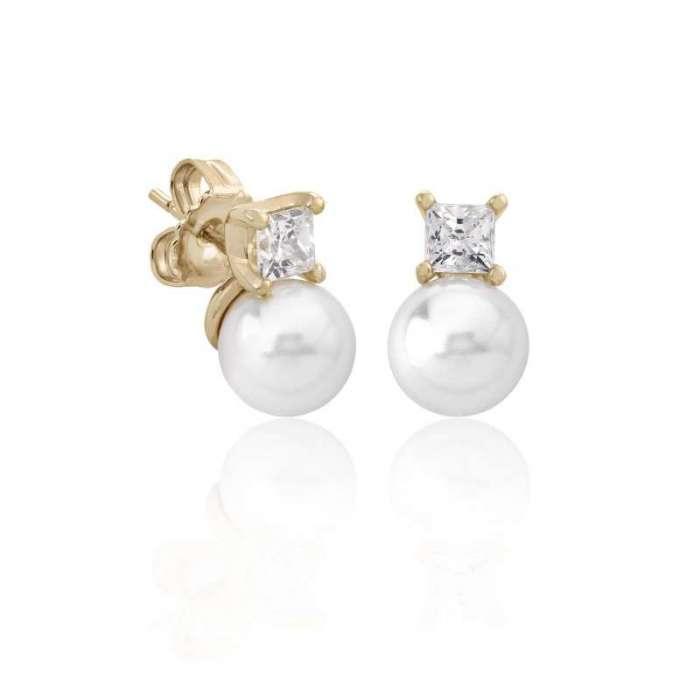 Earrings golden Selene