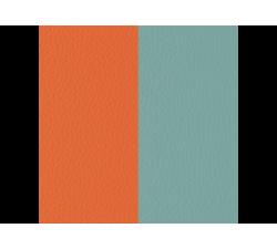 Banda de Piel Naranja Lilium / Azul Nimbus