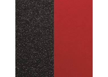 Banda de Piel Negro Glitter / Rojo