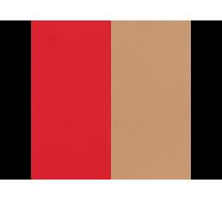 Banda de Piel Rojo Soft / Beige