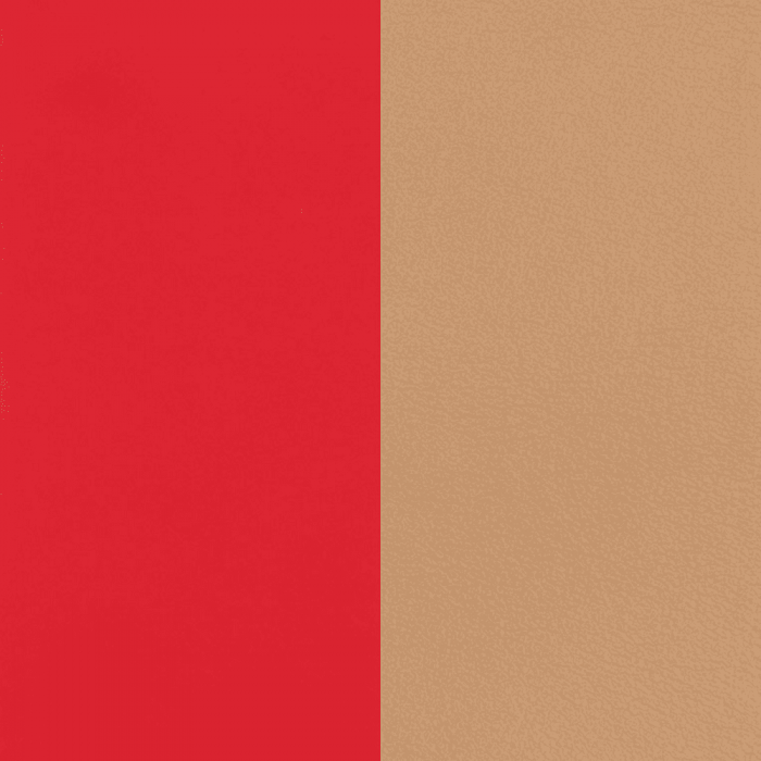 Leather band. Soft Red / Beige
