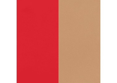 Leather band Soft Red / Beige for Les Georgettes bracelets