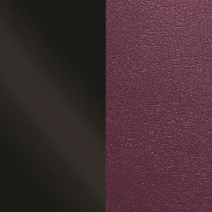 Banda de Piel Negro Charol/Violeta