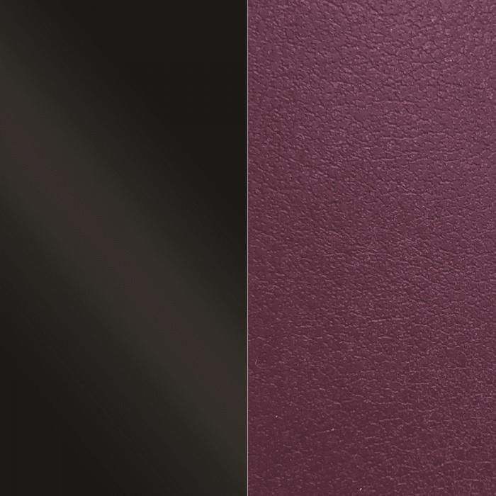 Leather band. Charol Black / Violet