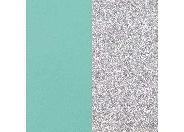Banda de Piel Verde Almendra/Plata Glitter