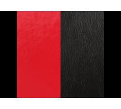 Banda de Piel Negro Charol/Rojo