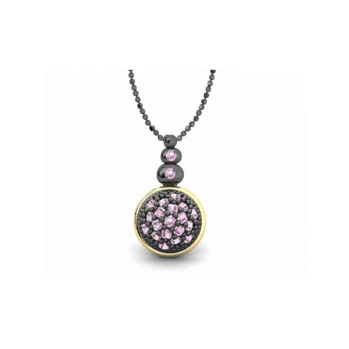Silver pendant by Bohemme Play Color. Pink colour