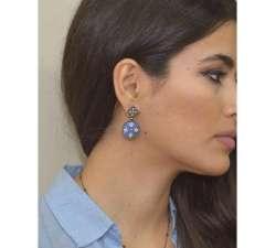 Earrings Princess Tale. Blue